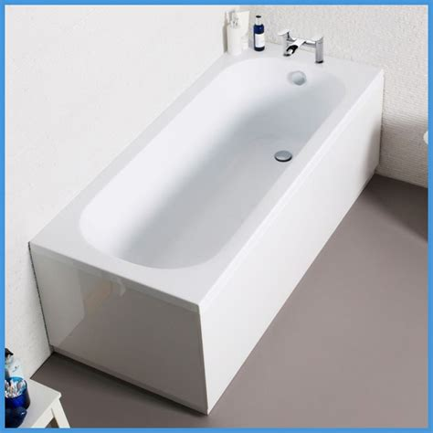 bathtub front panel straight white bath modern bathroom acrylic end panel