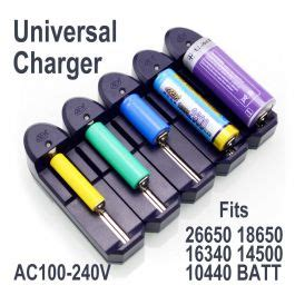 Charger Baterai Type 18650 14500 Dan 26650 Slot 1 Slot Universal Charger For 26650 18650 16340 14500 10440 Batteries Blp Lasers