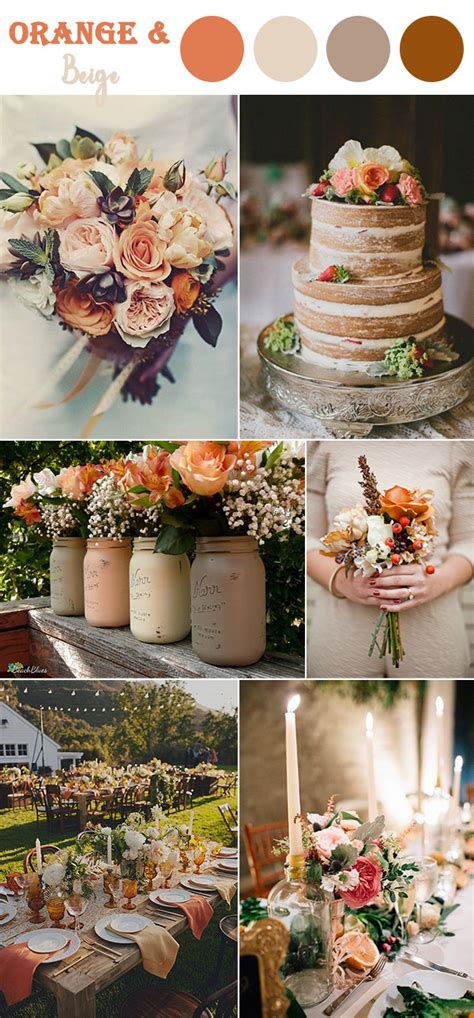 orange wedding colors 8 fall wedding color combos to in 2017