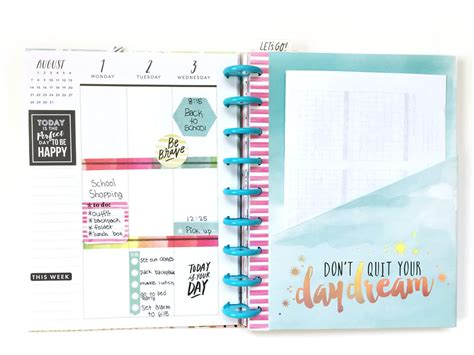 planner layout set up the happy planner student edition w your daughter