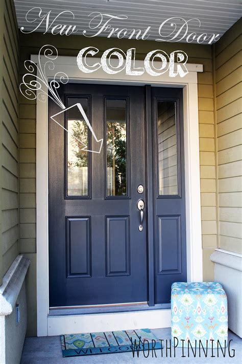 worth pinning gray door  teal door