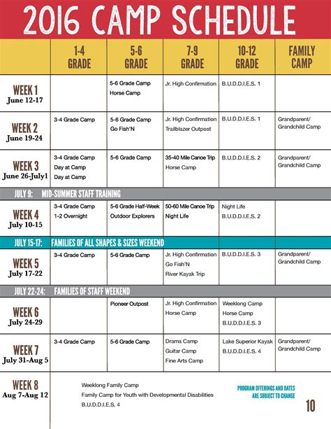summer c schedule template check back early january 2017 for summer c