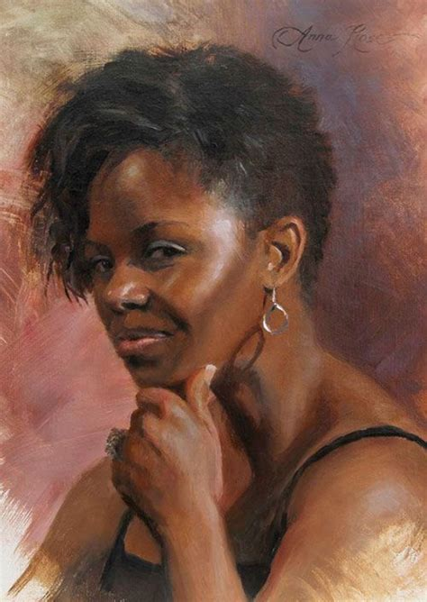 black woman paintings portraits artist anna rose bain contemporary figurative female