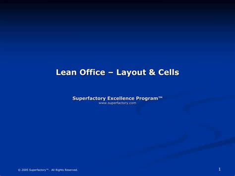 lean layout ppt ppt lean office layout cells superfactory excellence