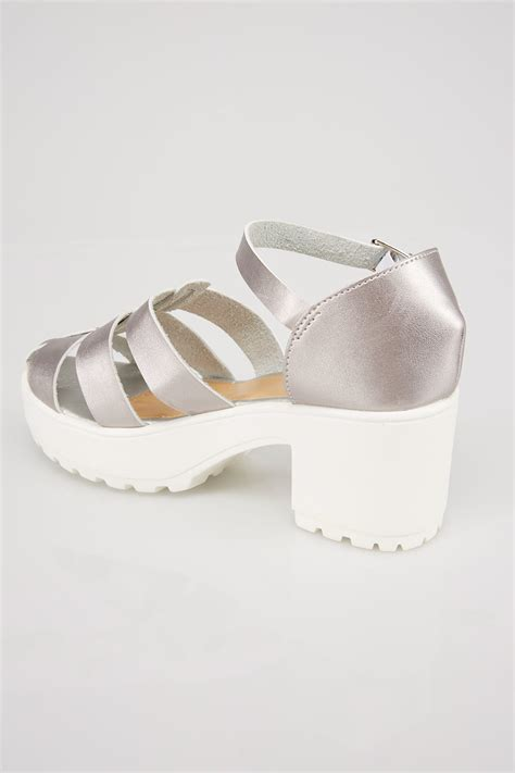 white and silver sandals silver white platform gladiator sandals in e fit size 4