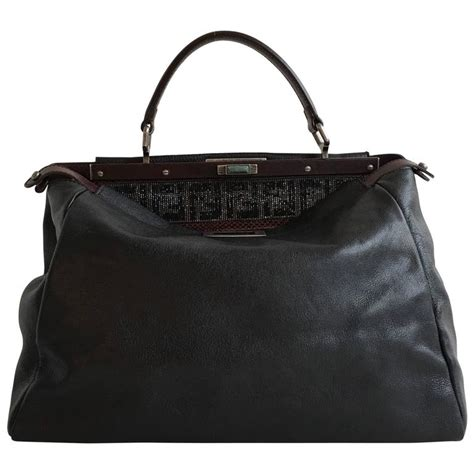 Limited Fendi Peek A Boo 23cm Original Leather Rp 4750000 2 limited edition beaded zucca fendi logo peek a boo purse