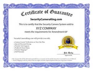 alarm installation certificate template securitycameraking is the amendment 64 security