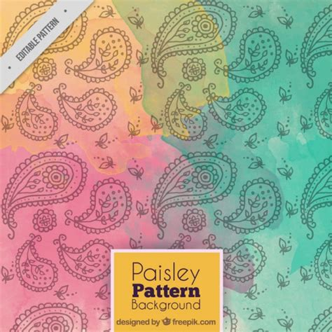 paisley pattern ai free colorful paisley pattern vector free download
