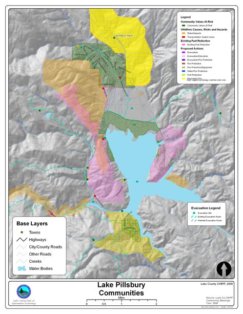 lake county map wildfire protection plan