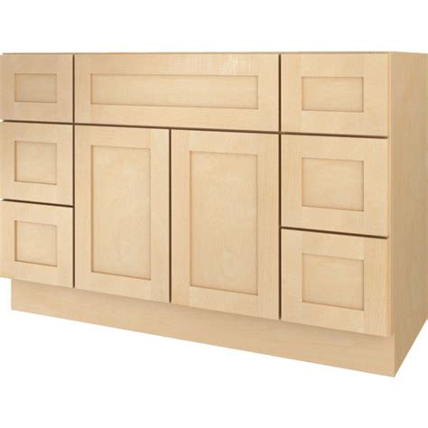 Unfinished L Base by Bathroom Vanity Drawer Base Cabinet Maple Shaker