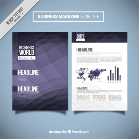 corporate magazine template abstract business magazine template vector free