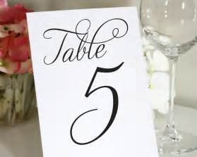 table numbers for wedding reception templates wedding table numbers table numbers by shine