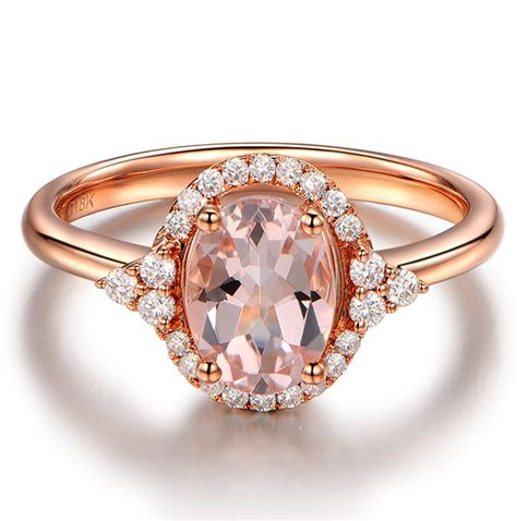 vintage 2 carat morganite and engagement ring in