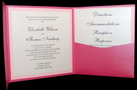 wholesale pocket fold invitations premium invitation