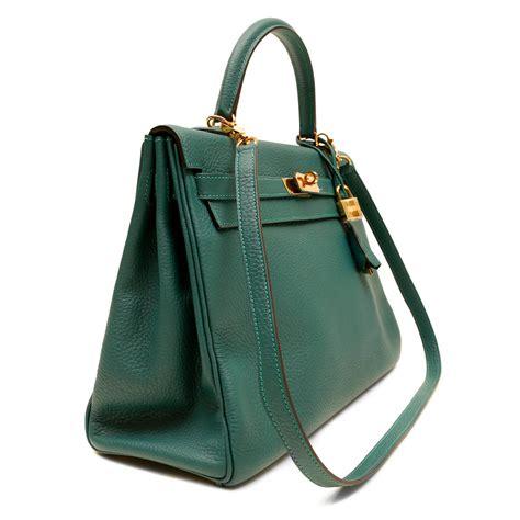 Hermes Bag 3 hermes malachite green togo 35 cm bag at 1stdibs