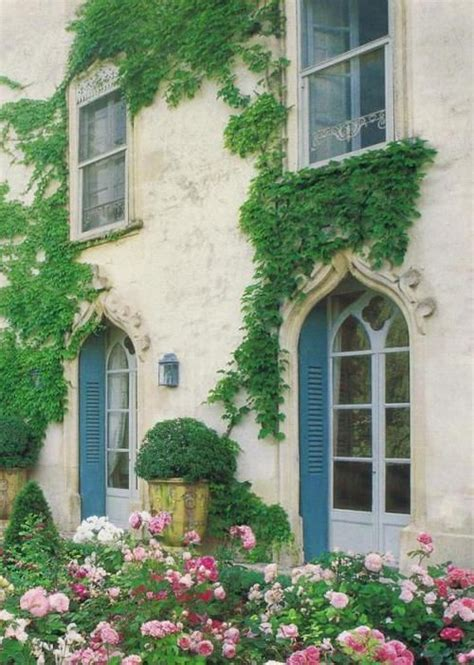 french country exterior beautiful stone home exterior covered in green vines a d