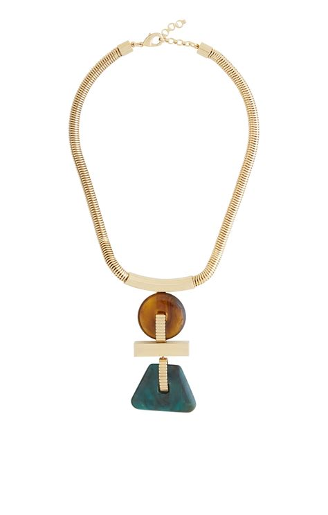 Geometrical Necklace by Geometric Plate Necklace
