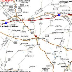 gonzales county map map to ki4u inc in gonzales tx