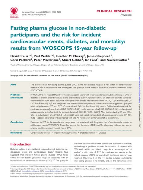 Links To Stalk 15 by Fasting Plasma Glucose In Non Diabetic Pdf