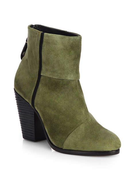 rag and bone boots rag bone classic newbury waxed suede ankle boots in