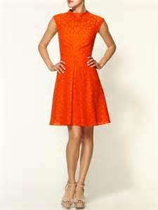 tangerine color dress milly avery cap sleeve dress in orange tangerine lyst