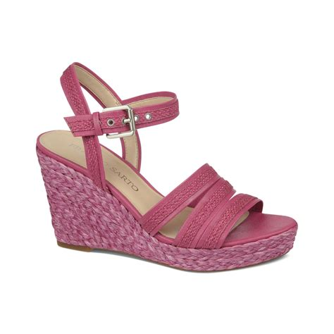 fuschia sandals franco sarto rosa platform wedge sandals in pink fuschia