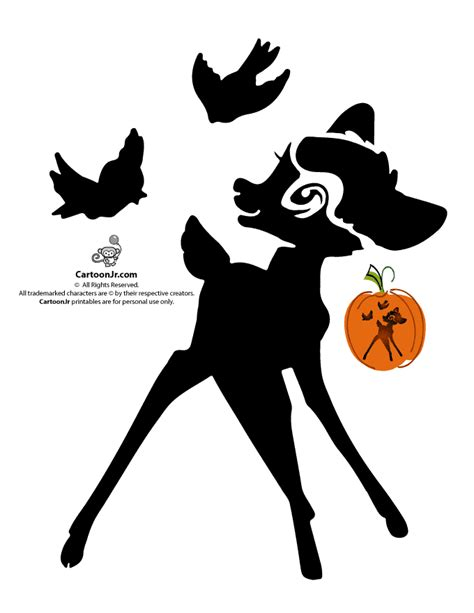 printable disney jack o lantern patterns classic disney pumpkin stencils disney s bambi jack o