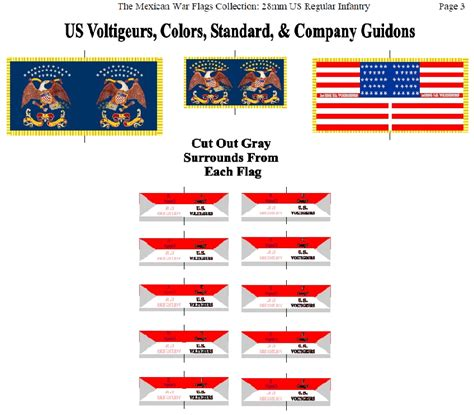 The Virtual Armchair General Mexican American War Flags Collection