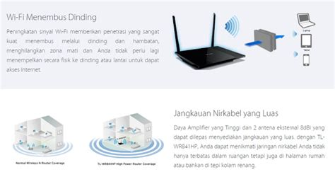 Router Wifi Jarak Jauh jual tp link tl wr841hp hg high power wireless n router