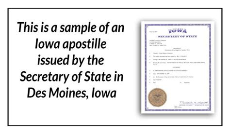 State Of Iowa Divorce Records 17 Best State Of Iowa Sle Apostille Images On