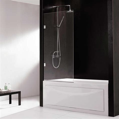 european bathtub screen with curved edge bathroom