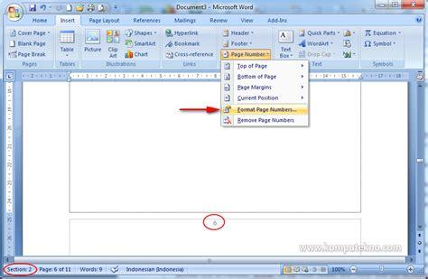 membuat nomor halaman yang berbeda di word 2007 t i k kelas x sma muhammadiyah pangandaran membuat nomor