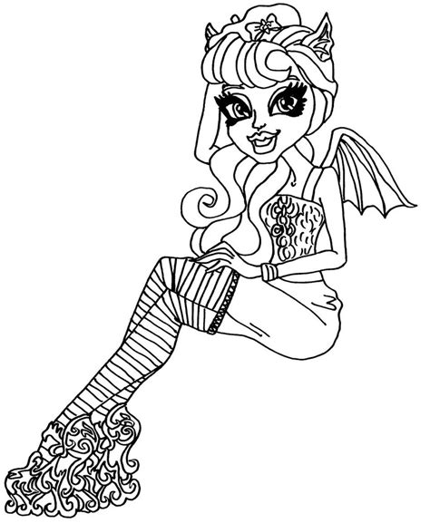 monster high rochelle coloring pages scaris rochelle by elfkena on deviantart