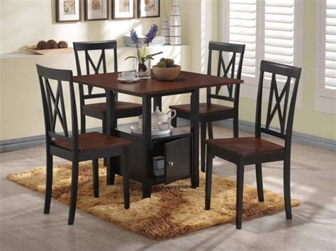 Simple Dining Room Decoration with Two Tone Counter Height Coffee Table, Small Square Table Top