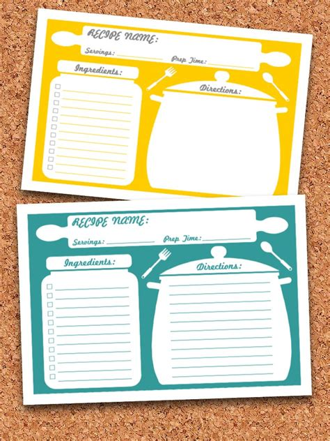 editable printable recipe cards free recipe cards deals on 1001 blocks