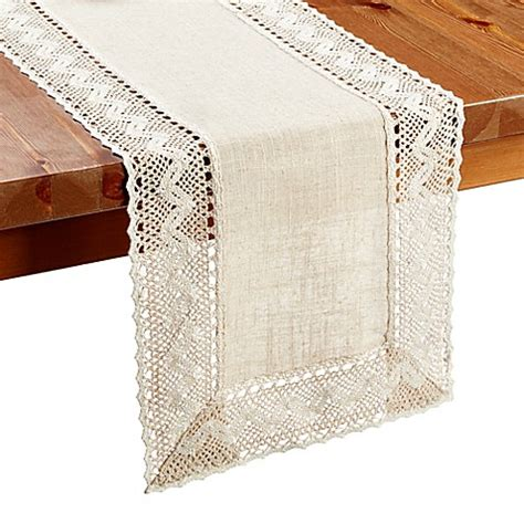 table runners bed bath and beyond buy pebble lace 36 inch table runner from bed bath beyond