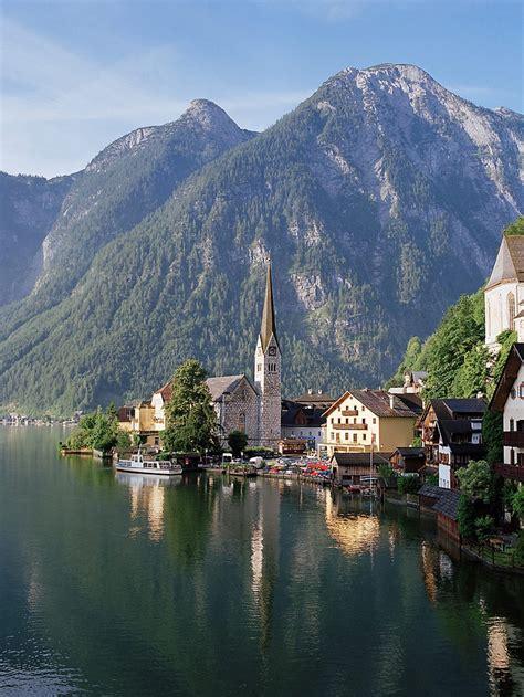 hallstatt austria hallstatt morning lake hallstatt austria