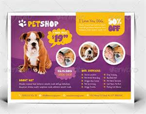 pet shop flyer templates on behance