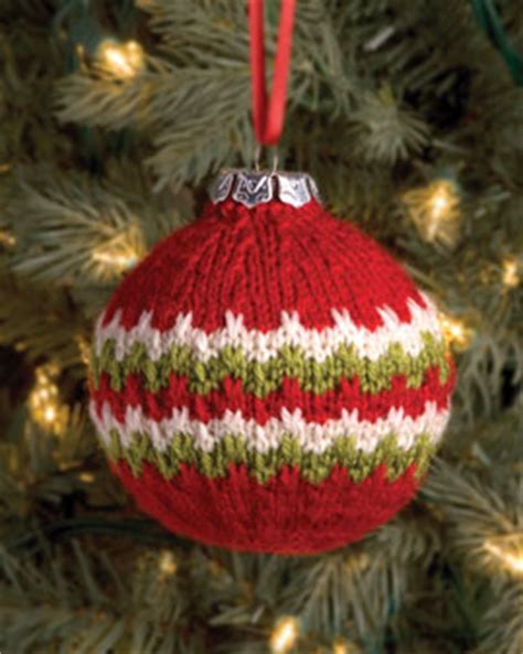 knitted christmas decorations ornament knitting bee
