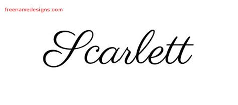 scarlett name tattoo designs archives free name designs