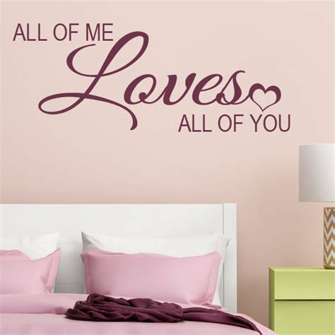 all of me all of you wall sticker decals