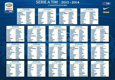 Calendrier Serie Calendrier Serie A Calcio Chionnat Italien Saison 2013 2014
