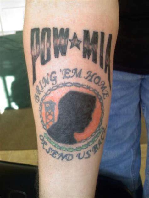 pow mia tattoos pow