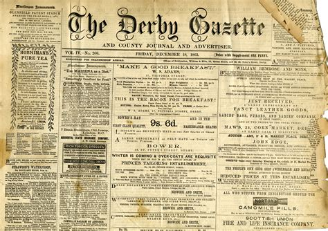 old newspaper gives insight into victorian life in derby