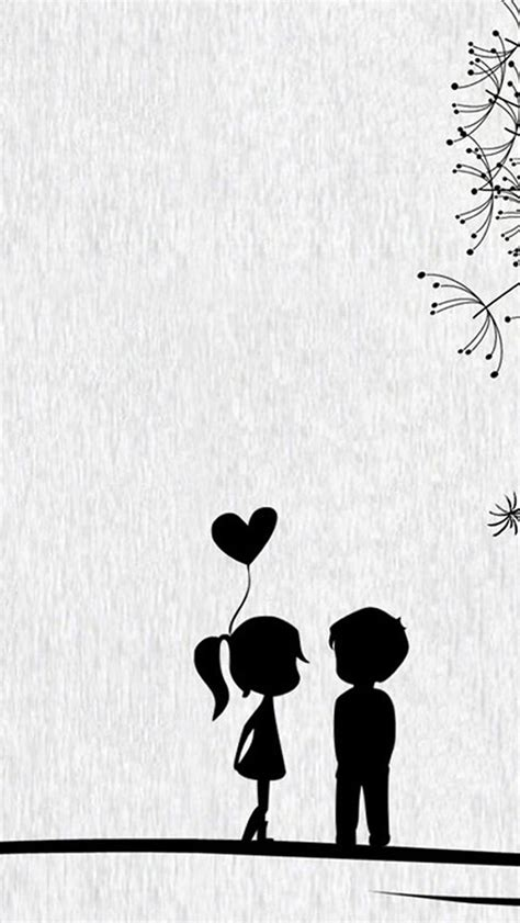 couple wallpaper pinterest love cute cartoon little couple iphone 5s wallpaper