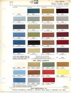 Opel Colour Codes Paint Chips 1971 Buick Opel