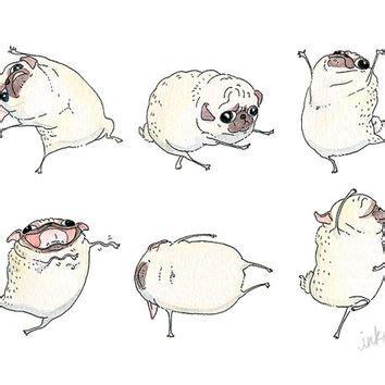 ink pug pug print pug from inkpug our inkpug