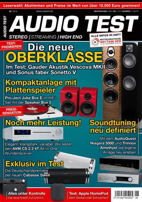 audio test audio test 6 2018 auerbach verlag und infodienste gmbh