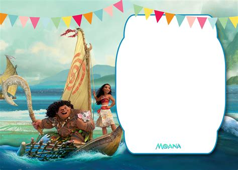 Baby Moana Invitation Template Free free moana baby shower invitation template free