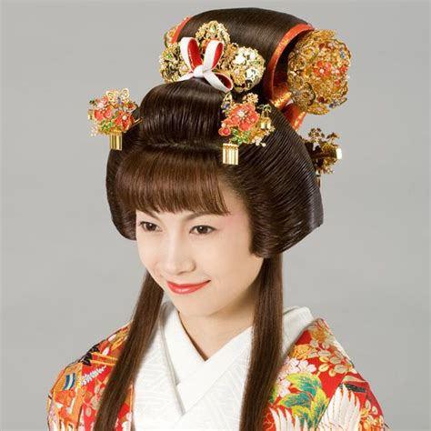 traditional hair japan edo era fukiwa hairstyle traditional asian